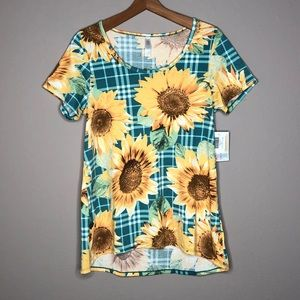 LuLaRoe NWT Sunflower Short Sleeve Shirt